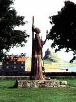 Statue of St.Aidan by Kathleen Parbury