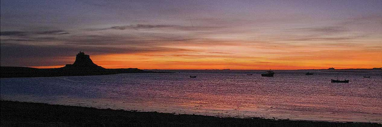 The Holy Island of Lindisfarne - dawn